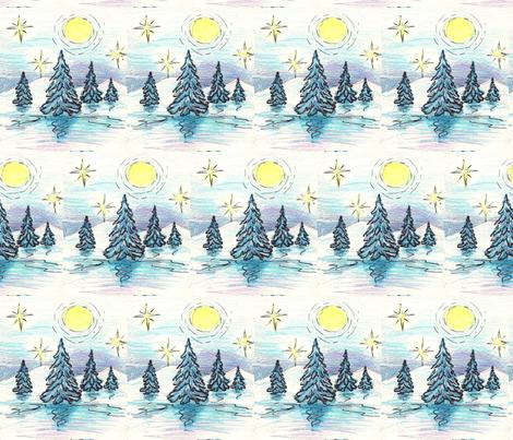 winter_night fabric by vinkeli on Spoonflower - custom fabric