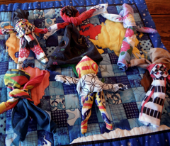 International Friends Handkerchief Dolls (wide fabric)