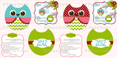 Owls ornaments