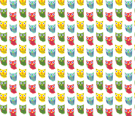 Owls are a Woot fabric by andibird on Spoonflower - custom fabric