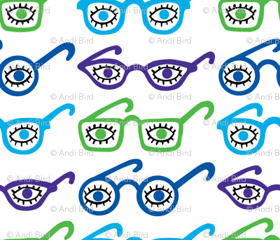 Eyeglasses - 4 eyes - blue