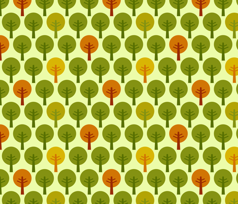 SteffFabrics Forest Green fabric by steffstyle on Spoonflower - custom fabric