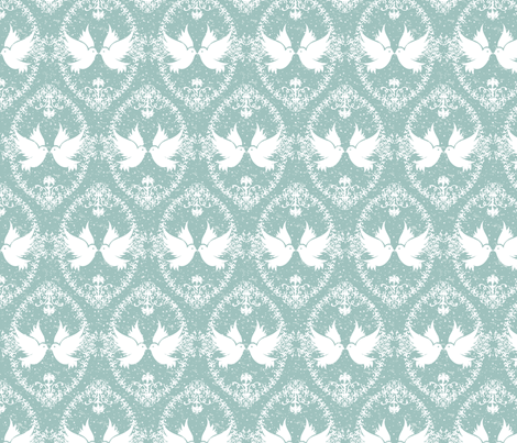 Love_birds_cameo fabric by ruthless_art on Spoonflower - custom fabric