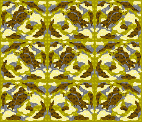 Camouflage Peace fabric by mikka on Spoonflower - custom fabric