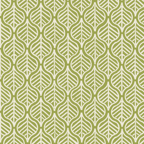Indian Leaf / Grass & Natural (Inverted) fabric by mjdesigns on Spoonflower - custom fabric