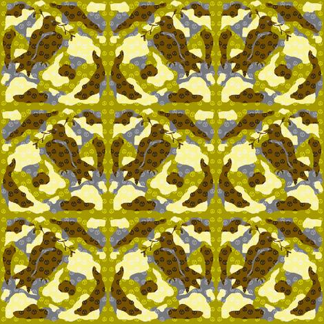 Camouflage Peace Mini fabric by mikka on Spoonflower - custom fabric