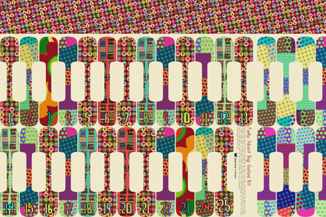 Funky Advent Bag Garland Kit fabric by scrummy on Spoonflower - custom fabric