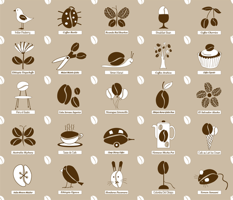 coffee_beige fabric by peppermintpatty on Spoonflower - custom fabric