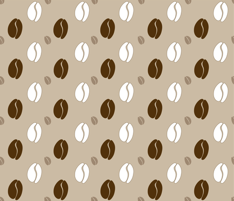 coffee_dots_beige fabric by peppermintpatty on Spoonflower - custom fabric