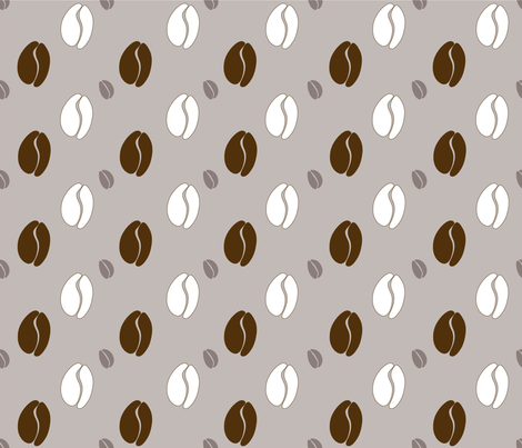 coffee_dots_grey fabric by peppermintpatty on Spoonflower - custom fabric