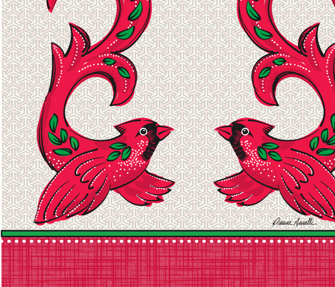Cardinal Wine Bag fabric by dianne_annelli on Spoonflower - custom fabric