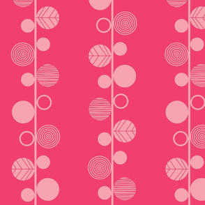 linear leaves bright wallpaper dark pink
