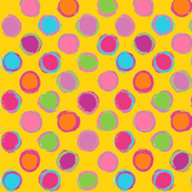 Chalk DOTS gold Polka Dots