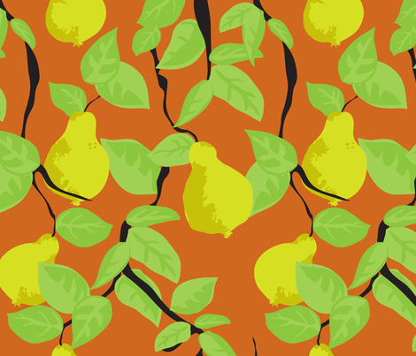 pear tree fabric by marlene_pixley on Spoonflower - custom fabric