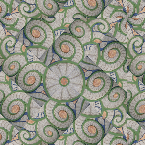 Art Deco Twirl fabric by pad_design on Spoonflower - custom fabric