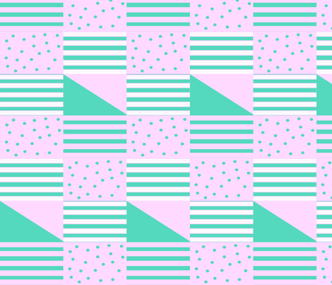 Pastel_Two-Two_Quilt fabric by doodle_bugs on Spoonflower - custom fabric