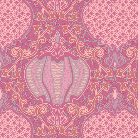 romano 31 curvy fabric by glimmericks on Spoonflower - custom fabric