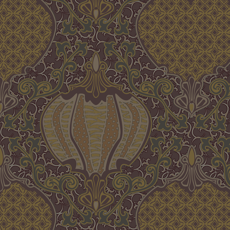 romano 32 curvy fabric by glimmericks on Spoonflower - custom fabric