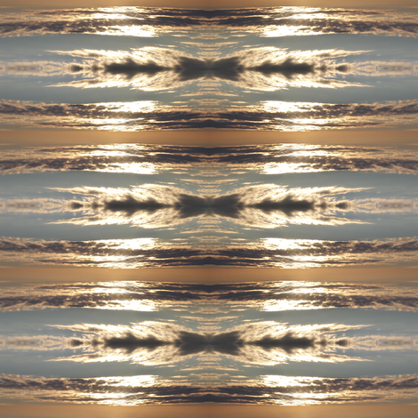 Sunset Ikat fabric by gimlet on Spoonflower - custom fabric