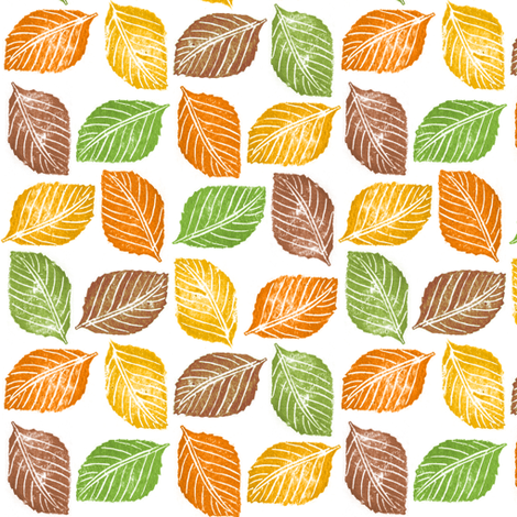 Autumn leaves fabric by yaskii on Spoonflower - custom fabric