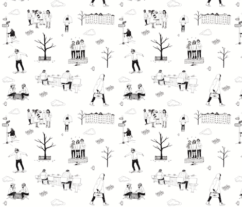 City Toile fabric by dgibbey on Spoonflower - custom fabric