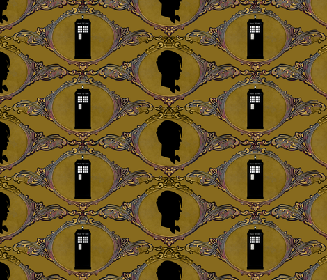 Dr. Who Makes a Cameo fabric by vo_aka_virginiao on Spoonflower - custom fabric