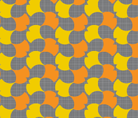 Autumn Ginkgo 1A fabric by nekineko on Spoonflower - custom fabric