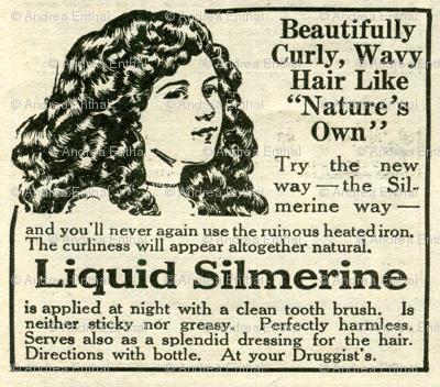 1918 Hair Products advertisement, Liquid  Silmerine