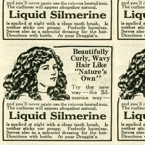 1918 Hair Products advertisement, Liquid  Silmerine fabric by edsel2084 on Spoonflower - custom fabric