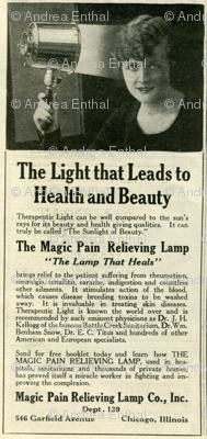 1918 Medical Quackery advertisement: Magic Lamp