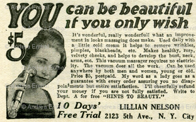 1918 Vacuum Massager Beauty Product Advertisement