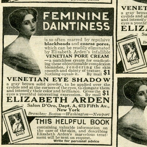 1918 Feminine Daintiness Cosmetics Advertisement fabric by edsel2084 on Spoonflower - custom fabric