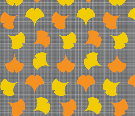 Autumn Ginkgo 1B fabric by nekineko on Spoonflower - custom fabric