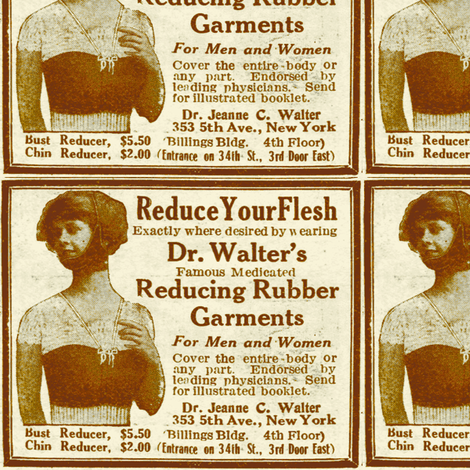1918 Weight Loss ad for Women fabric by edsel2084 on Spoonflower - custom fabric