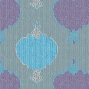romano ikat1 teal purple turquoise
