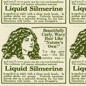 Liquid Silmerine Hair Care 1918 advertisement