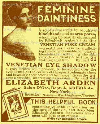 Feminine Daintiness 1918 cosmetics ad