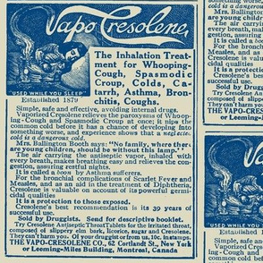 Medical Quackery: Vapo Cresolene advertisement