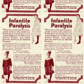 1918 McLain sanitarium advertisement polio treatment