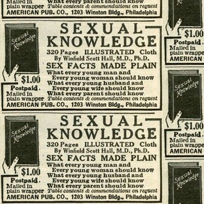 1918 advertisement for sexual knowledge book
