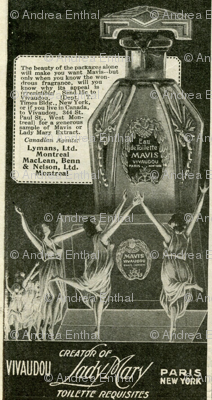 1918 dancing nymphs perfume advertisement