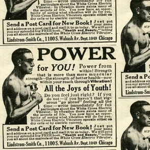 1918 White Cross Electric Vibrator Advertisement