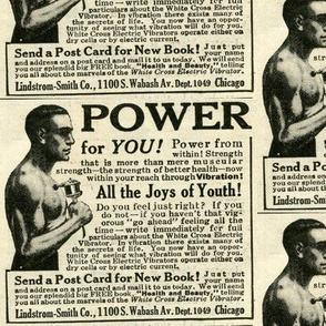 1918 White Cross Electric Vibrator Advertisement