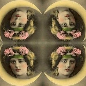 Lady in the Moon Mirror Repeat