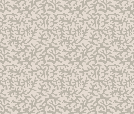 Coral branch - greige fabric by ravynka on Spoonflower - custom fabric