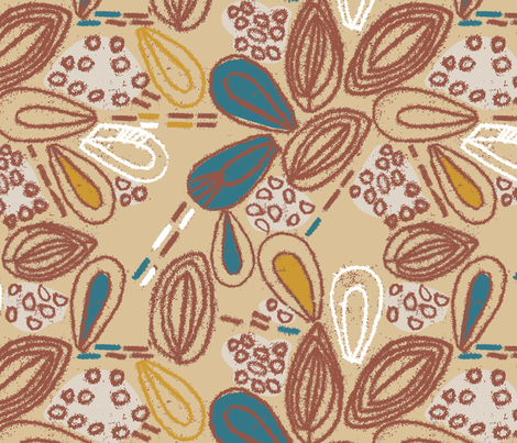 Seedlings-Blue Colorway fabric by gsonge on Spoonflower - custom fabric