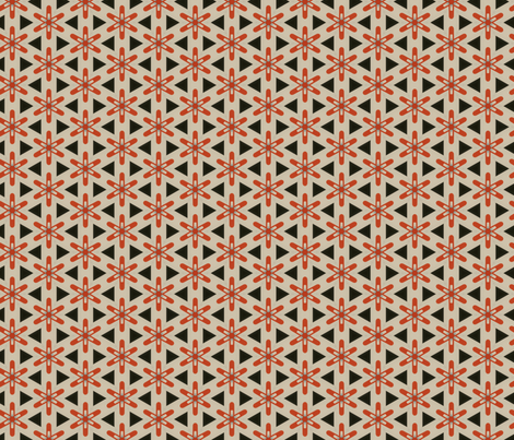 Retro Red Star fabric by stoflab on Spoonflower - custom fabric