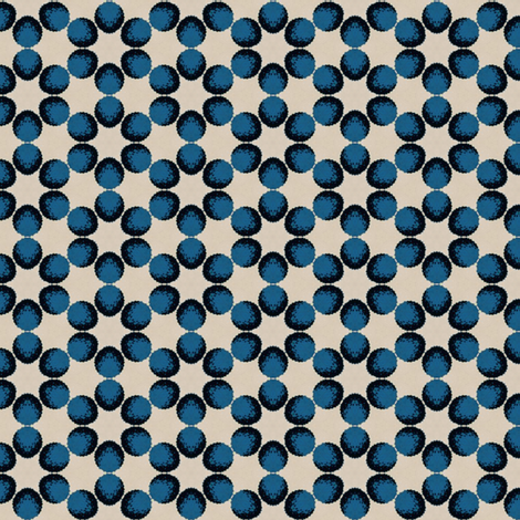 Vintage Blue Dots fabric by stoflab on Spoonflower - custom fabric