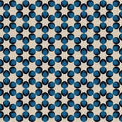 Vintage Blue Dots