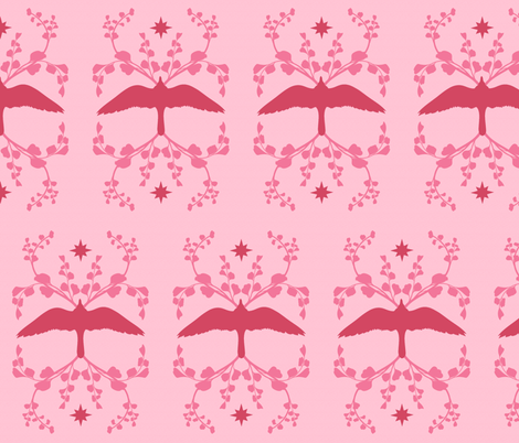 Fancy_Bird fabric by brainsarepretty on Spoonflower - custom fabric